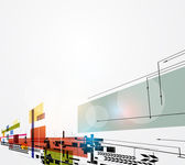 Abstract begrip nano ray computer technologie zakelijke pagina — Stockvector