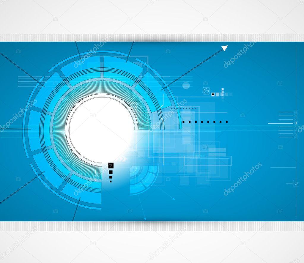 抽象的未来派电路高计算机技术商业背景