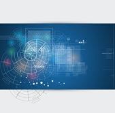 グローバル無限コンピューター技術概念ビジネス背景 — ストックベクタ