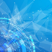 Globalnego nieskończoności technologii komputer koncepcja otoczenie biznesu — Wektor stockowy