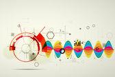 Fond d'affaires global infinity ordinateur technologie concept — Vecteur