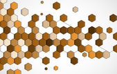 Abstract brown point hexagon business and technology background — Stock Vector