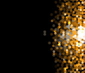Abstract dark gold hexagon technology information background — Stock Vector