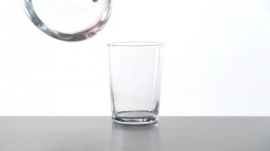 Serving water glass — Stock Video