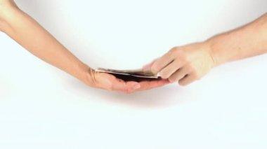 Neem het geld en uitvoeren — Stockvideo