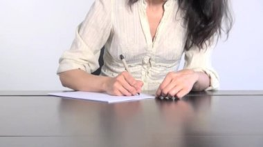 Papier blanc femme — Vidéo