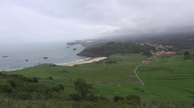 Asturias cloudy coast 60 — Stockvideo