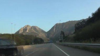 Asturias Highway fast 60 — Stock Video