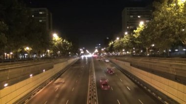Castellana road night 30 — Stock Video