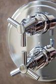 Shower equipment on wall — Stock Photo