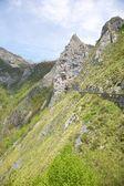 Tunnel of road in Picos de Europa — Stock Photo