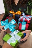 All the presents for me — Stock Photo
