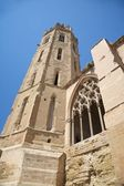 Belfry of cathedral at Lleida city — Stock Photo