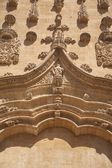 Carved facade of Salamanca cathedral — Stock Photo