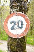 Ruined twenty speed signal — 图库照片