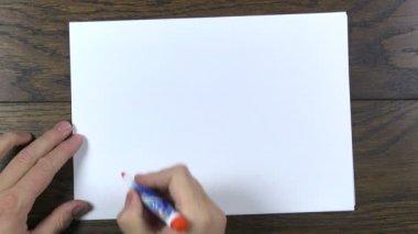 Writing no — Stock Video