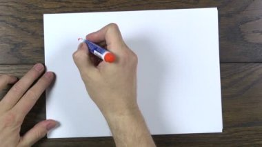 Writing yes — Stock Video