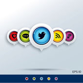 Social media Icons — Stock Vector