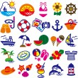 Clip art summer - Vettoriali Stock