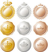 Ranking medal set — Stock Vector