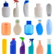 Stock Photo: Collection of plastic and glass bottles