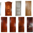 Stock Photo: Set of handmade luxury doors.