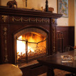 Stock Photo: View on fireplace