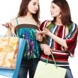 Two young women with shopping bags — Stock Photo #12371890