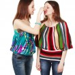 Two young women arguing — Stock Photo #12371896