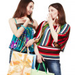 Two young women with shopping bags — Stock Photo #12371900