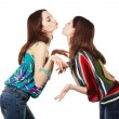 Two young attractive girls kissing — Stock Photo #12371914