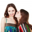 Unpleasant woman kiss — Stock Photo