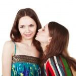 Unpleasant woman kiss — Stock Photo