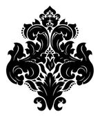 Vector. patrones de damasco sin fisuras — Vector de stock