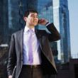 Young businessman talking on mobile phone. — Stock Photo #13786046