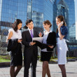 Group of business meeting outdoor — Stock Photo #15838899