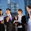 Stock Photo: Group of business meeting outdoor