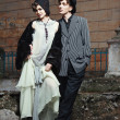 Stock Photo: Retro styled fashion portrait of young couple.