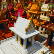 Stock Photo: Thailand, miniature temples are left in this sacred place by Tha