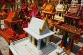 Thailand, miniature temples are left in this sacred place by Tha — Stock Photo