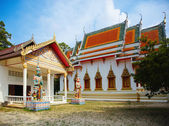 Red Pagoda. Temple in Koh Samui Thailand — Stock Photo
