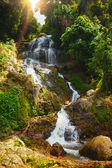 Big waterfall in tropical jungle, Na Muang, Koh Samui — Stock Photo