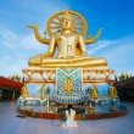 Wat phra yai, the big buddha temple at Koh Samui, Thailand — Stock Photo #29887725
