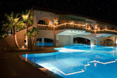 Night resort villa view — Stock Photo