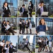 Stock Photo: Business people collage made of some different elements