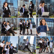 Business people collage made of some different elements — Stock Photo