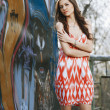 Beautiful young multicultural woman outdoors in a fashion pose. — Stock Photo #35791937