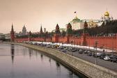 モスクワの交通渋滞 — ストック写真
