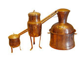 Alembic Copper - Distillation apparatus employed for the distill — Stock Photo