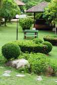 Lush Green, gardening, landscaping, park decoration and design — Stock Photo